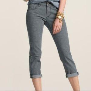 Cabi Johnny crop Railroad Jeans